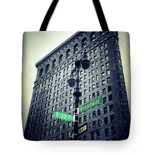 Tote Bag featuring the photograph Flatiron Directions by Jessica Jenney