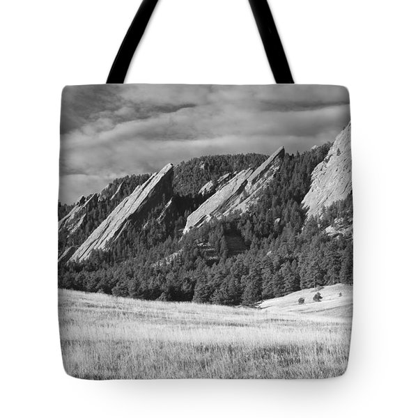 Flatiron Morning Light Boulder Colorado Bw Tote Bag