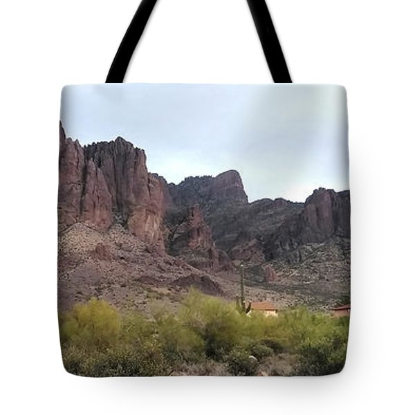 Flatiron Of The Superstition Mountains Tote Bag