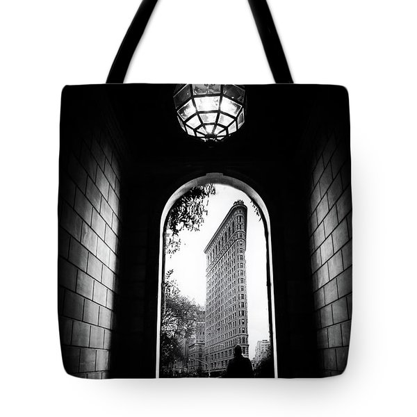 Tote Bag featuring the photograph Flatiron Point Of View by Jessica Jenney