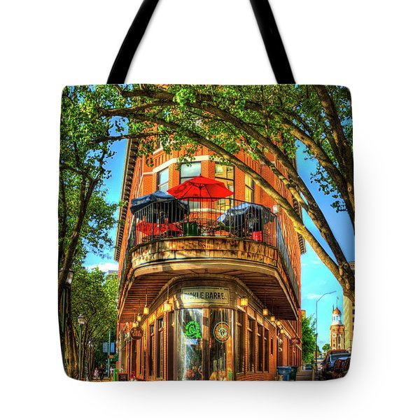 Flatiron Style Pickle Barrel Building Chattanooga Tennessee Tote Bag