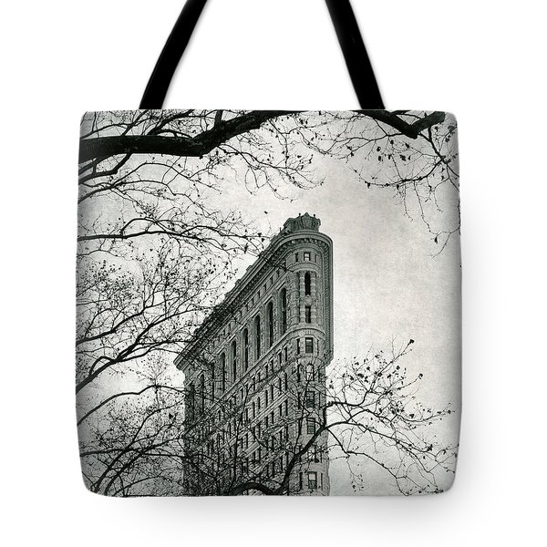 Tote Bag featuring the photograph Flatiron Vintage by Jessica Jenney