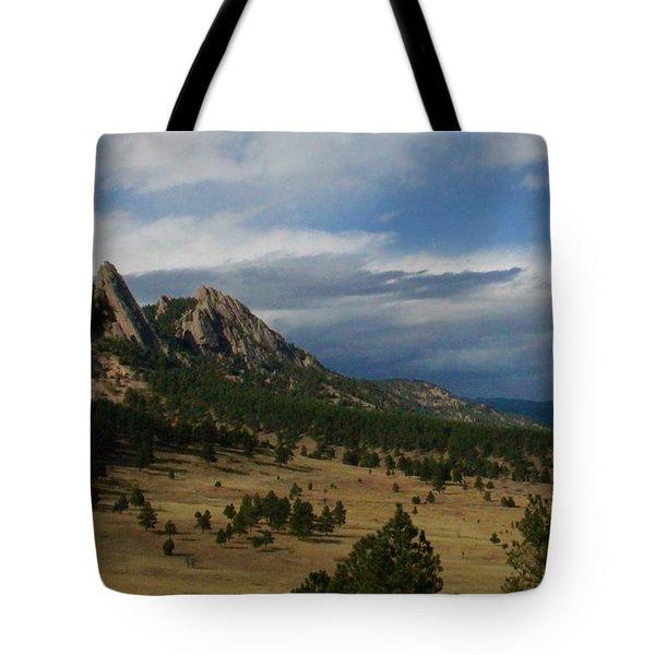 Flatirons, Boulder, Colorado Tote Bag