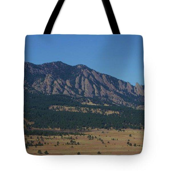 Flatirons Of Boulder Tote Bag