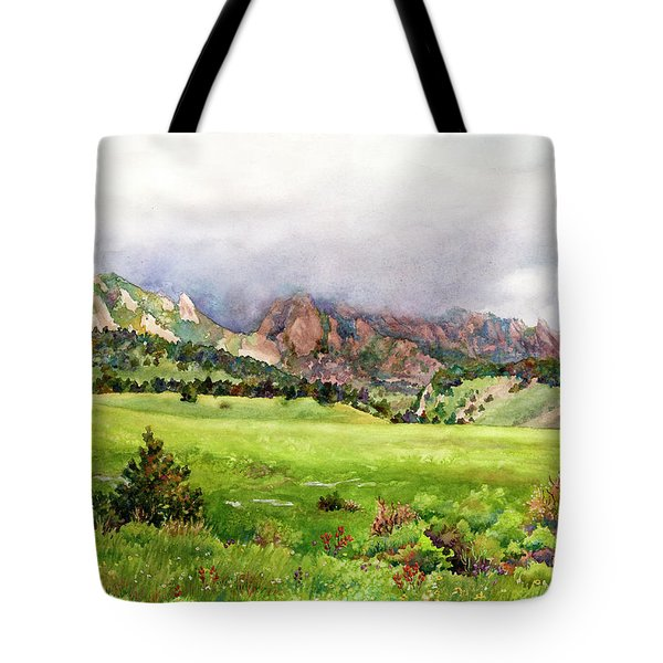 Flatirons Vista Tote Bag