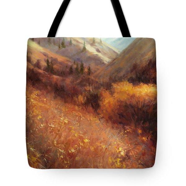 Flecks Of Gold Tote Bag