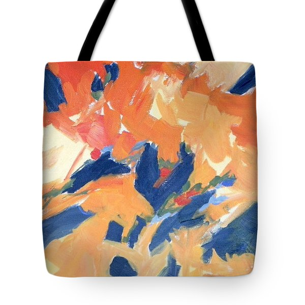 Fleeing Crows Tote Bag