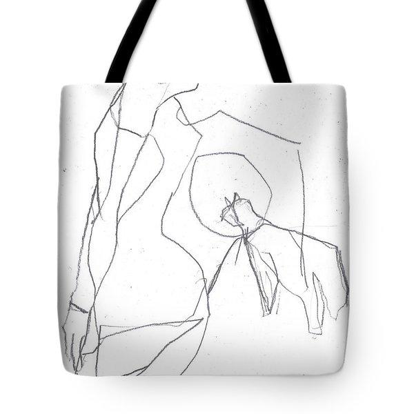 Fleeing Woman Tote Bag