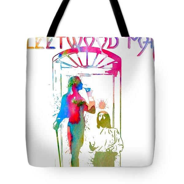 Fleetwood Mac Album Cover Watercolor Tote Bag