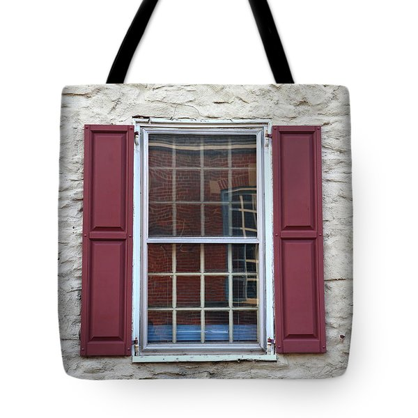 Tote Bag featuring the photograph Flemington, Nj - Side Shop Window by Frank Romeo