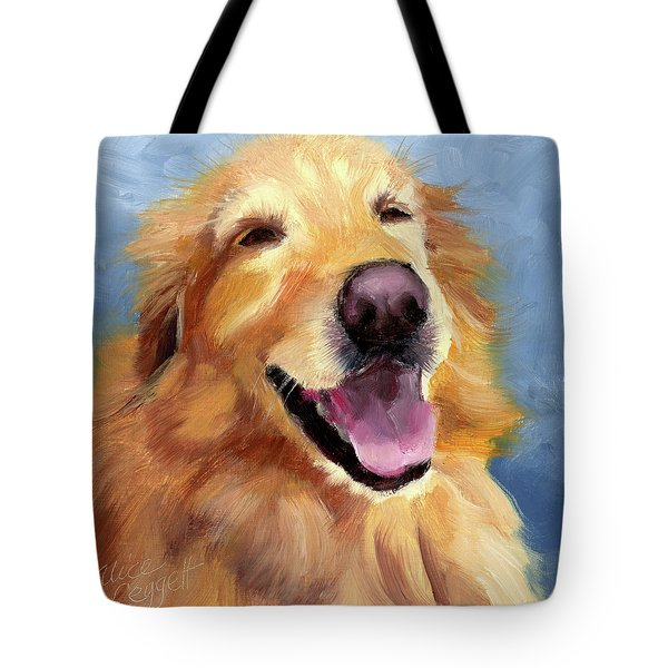 Fletcher Laughing Tote Bag by Alice Leggett
