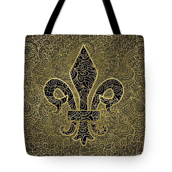 Fleur De Lis - A Gold Whisper Tote Bag