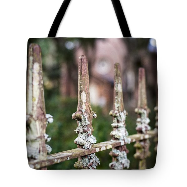 Fleur De Lis Finial Tote Bag by Andy Crawford