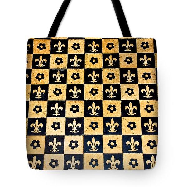 Fleur De Lis Floor Tote Bag by Eric Tressler
