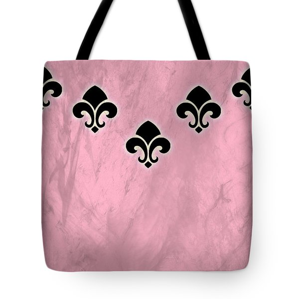 Fleur De Lis In Pink Texture Tote Bag