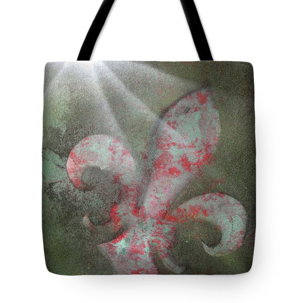 Tote Bag featuring the painting Fleur Di Lis by Tbone Oliver