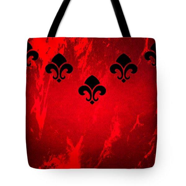 Fleur De Lis In Red Tote Bag