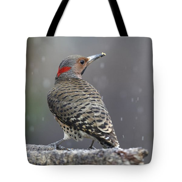 Flicker In Snowstorm Tote Bag