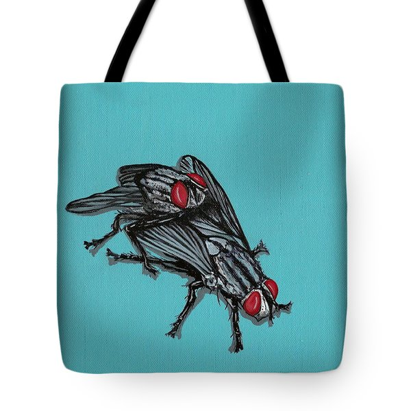Tote Bag featuring the painting Flies by Jude Labuszewski