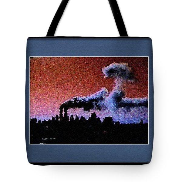 Flight 175 Mushroom Cloud Framed Example Tote Bag