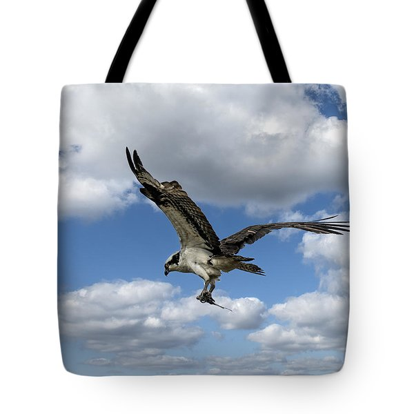 Flight Among The Clouds Tote Bag