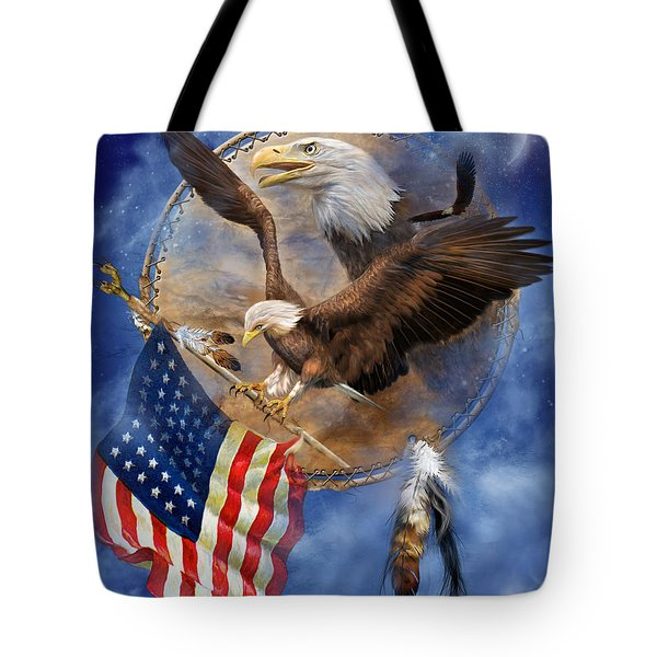 Flight For Freedom Tote Bag by Carol Cavalaris
