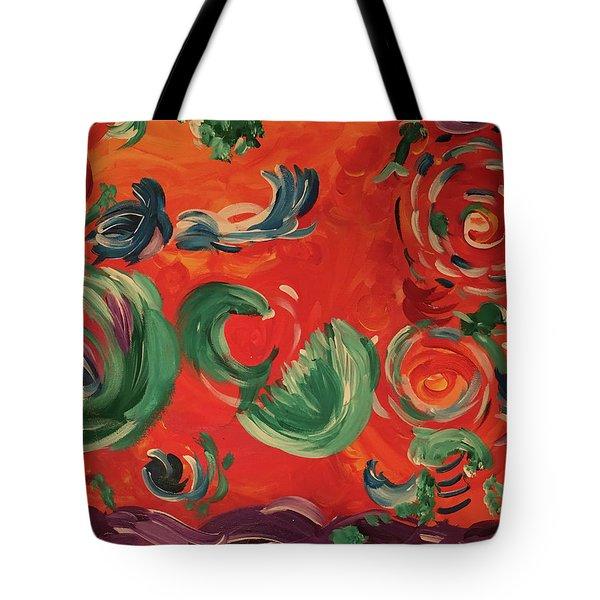 Flight Of Lotus Tote Bag