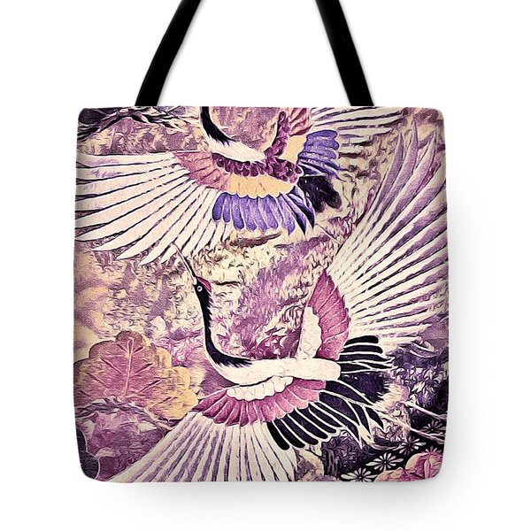 Flight Of Lovers - Kimono Series Tote Bag