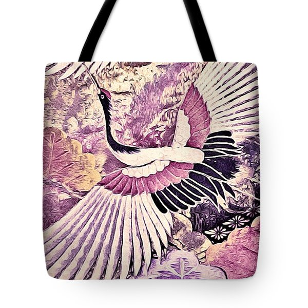 Flight Of Lovers - Kimono Series Tote Bag