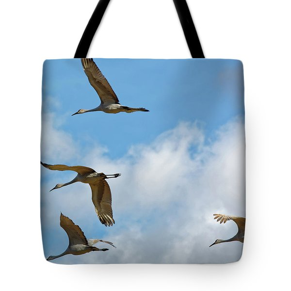 Flight Of The Cranes Tote Bag