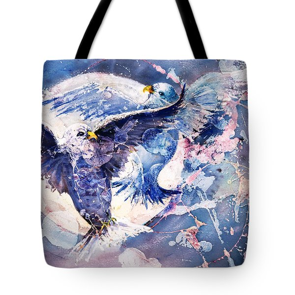 Flight Of The Doves Tote Bag
