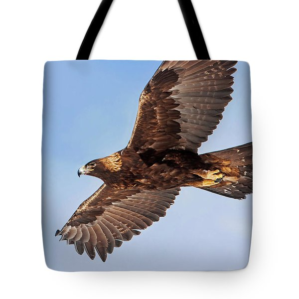 Flight Of The Golden Eagle Tote Bag