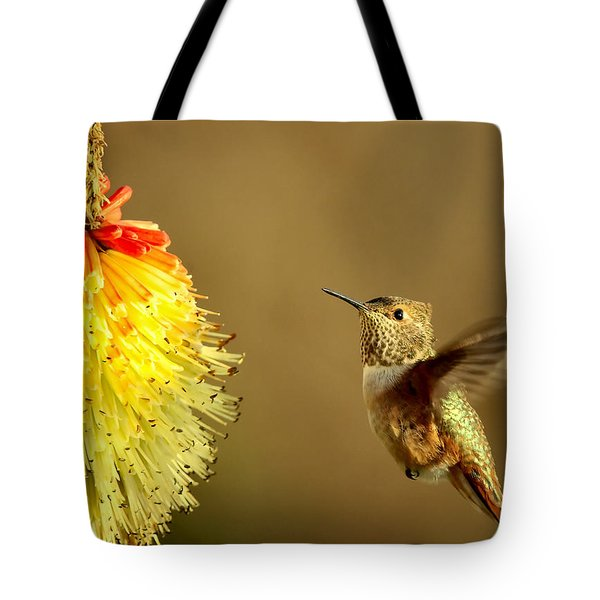 Flight Of The Hummer Tote Bag by Mike  Dawson