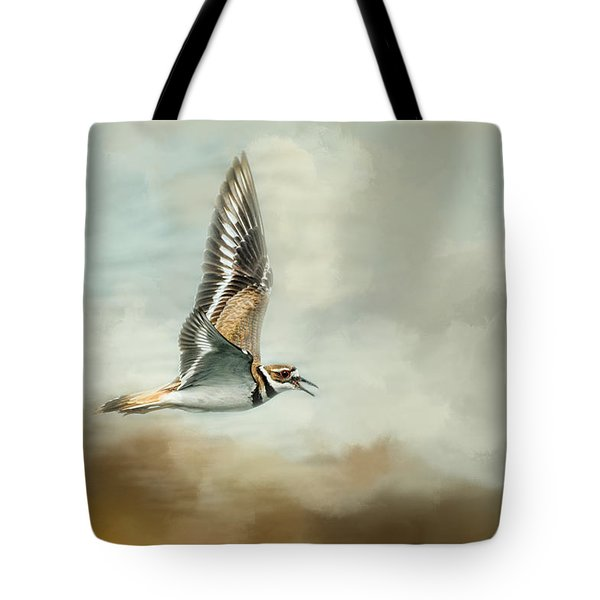 Flight Of The Killdeer Tote Bag