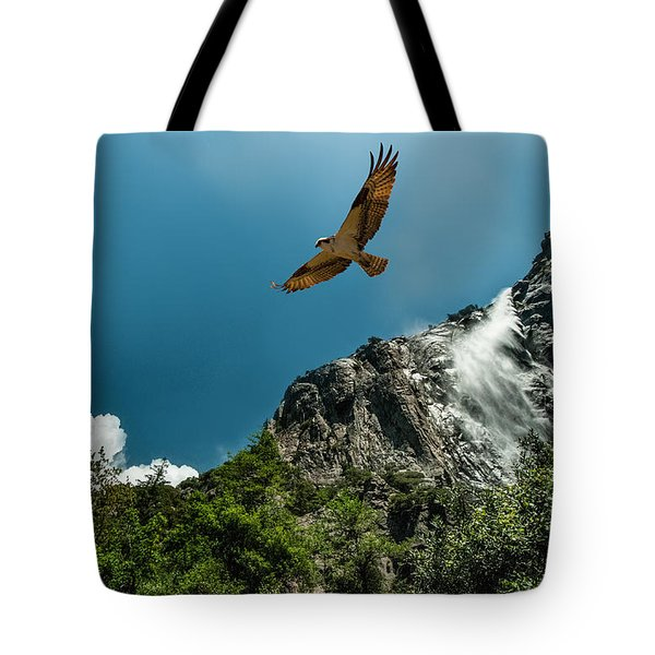 Flight Of The Osprey Tote Bag by Janis Knight