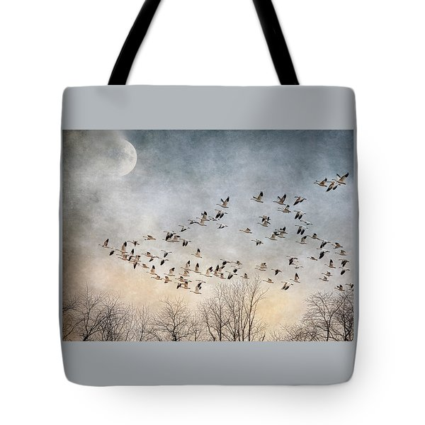 Flight Of The Snow Geese Tote Bag