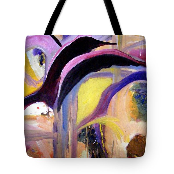 Flight Of The Sparrow Tote Bag