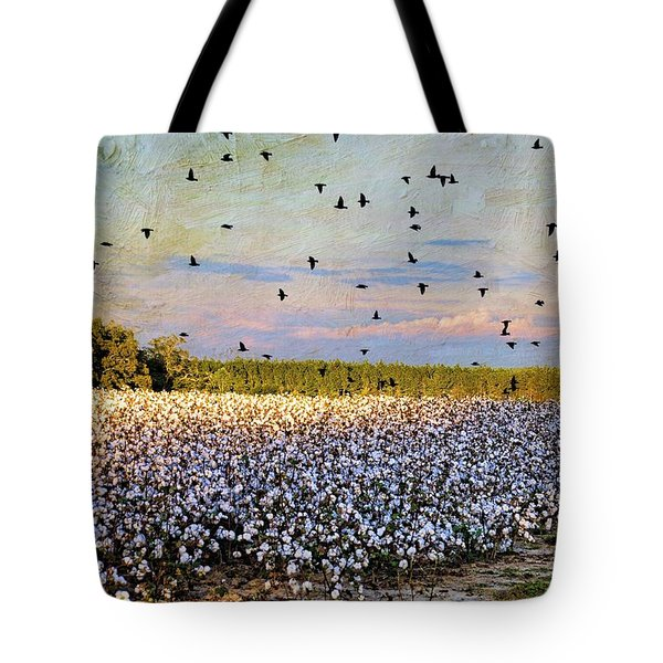 Tote Bag featuring the photograph Flight Over The Cotton by Jan Amiss Photography