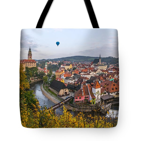 Flight Over The Medieval Town Tote Bag by Dmytro Korol