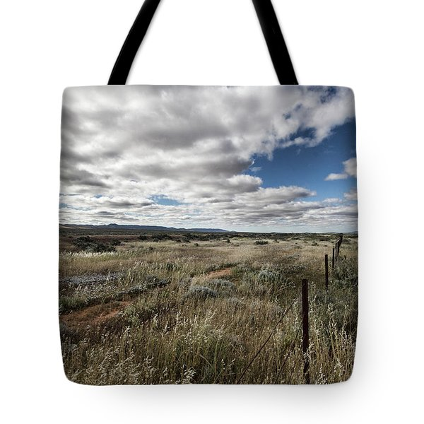 Tote Bag featuring the photograph Flinders Ranges Fields V2 by Douglas Barnard