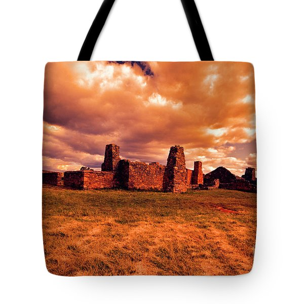 Tote Bag featuring the photograph Flinders Ranges Ruins by Douglas Barnard