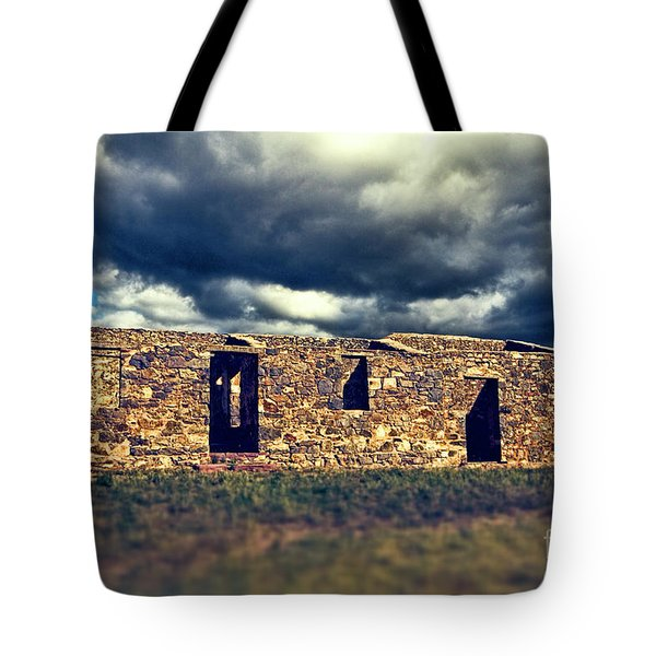 Tote Bag featuring the photograph Flinders Ranges Ruins V2 by Douglas Barnard