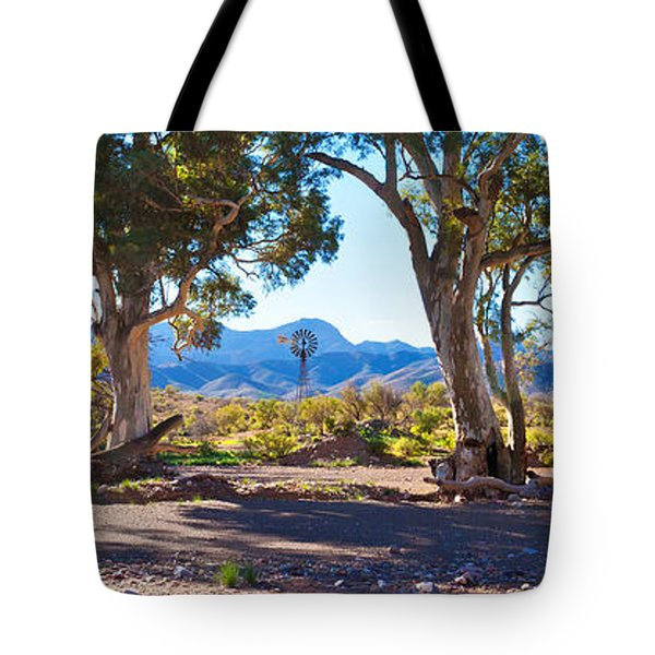 Flinders Ranges Windmill Tote Bag by Bill  Robinson