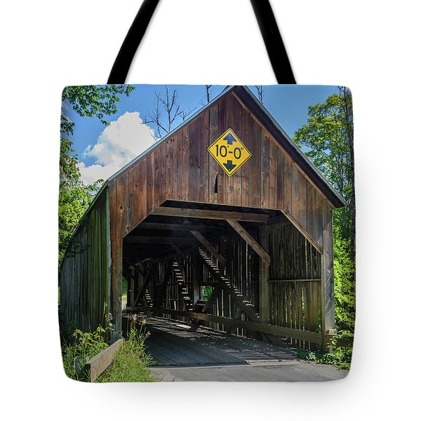Flint Bridge Tote Bag