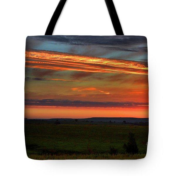 Flint Hills Sunrise Tote Bag