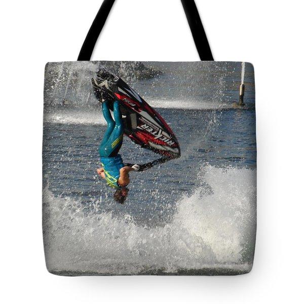 Jet Water Stunt Extreme  Tote Bag