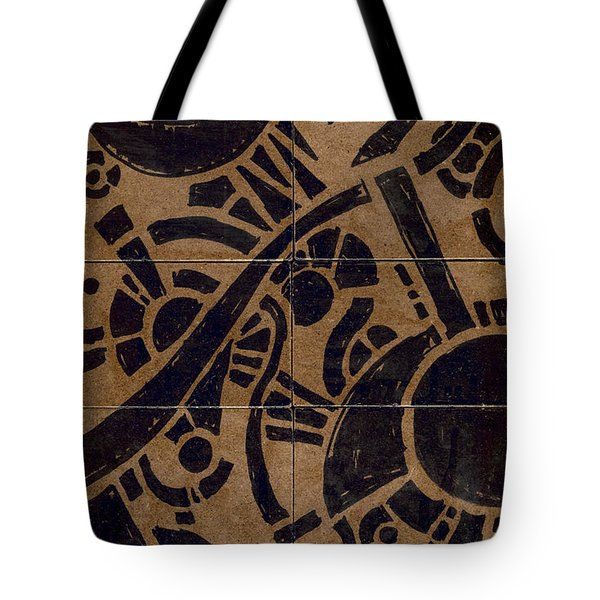 Flipside 1 Panel B Tote Bag by Joseph A Langley