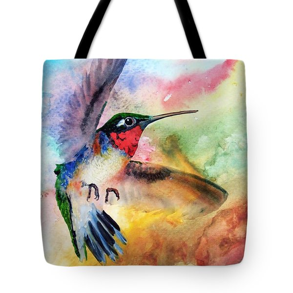Da198 Flit The Hummingbird By Daniel Adams Tote Bag