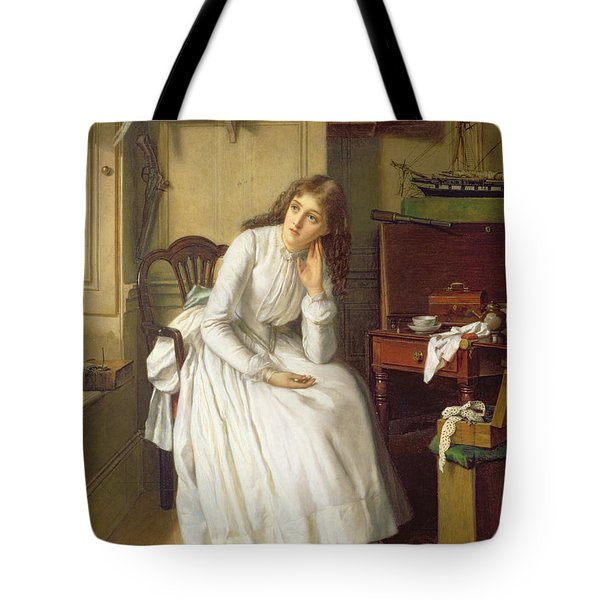 Flo Dombey In Captain Cuttle's Parlour Tote Bag by William Maw Egley