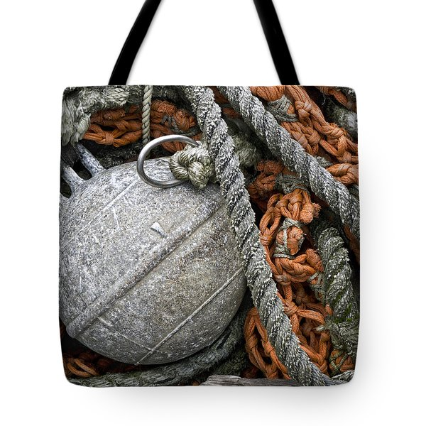Float And Fishing Nets Tote Bag by Carol Leigh
